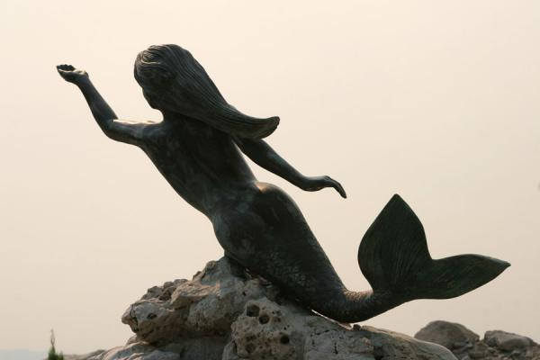 Picture of Poros (Greece): Little Mermaid at the waterfront of Poros