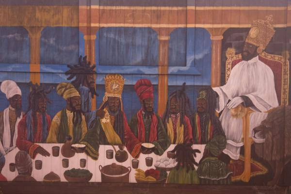Rasta art painted on a shop in Hillsborough | Carriacou Island | Grenada