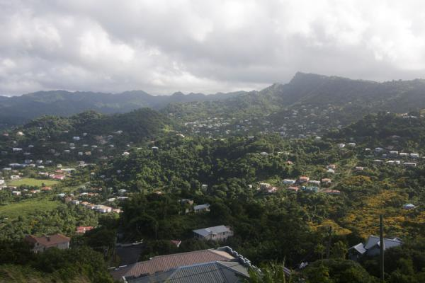 Looking into the interior of Grenada from Fort Frederick | Fort Frederick | Grenada