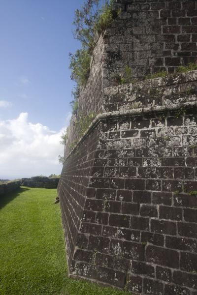 Picture of View of a wall of the upper part of Fort Frederick