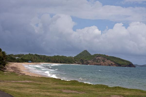 Bathways Beach with the unmistakeable peak of Sugar Loaf Island in the background | Spiaggia di Levera | Grenada