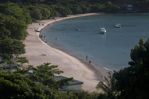 Picture of Morne Rouge Beach (Grenada): Boats moored in Morne Rouge bay