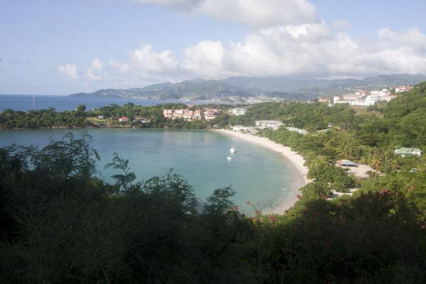 Picture of Morne Rouge Beach (Grenada): Morne Rouge Bay and beyond seen from a hilltop