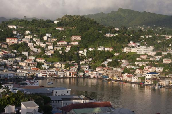 Picture of St. George's (Grenada): Late afternoon view over the horseshoe-shaped harbour of St. George's