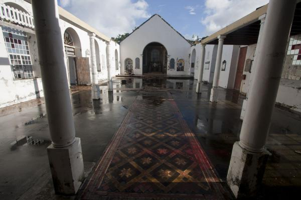 Interior of the Anglican church, still missing a roof after hurricane Ivan blasted it off in 2004 | St. George's | Grenada