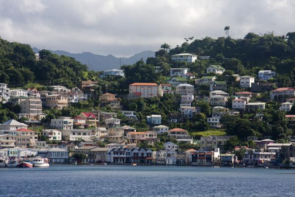 The west side of St. George's seen from the sea | St. George's | Grenada