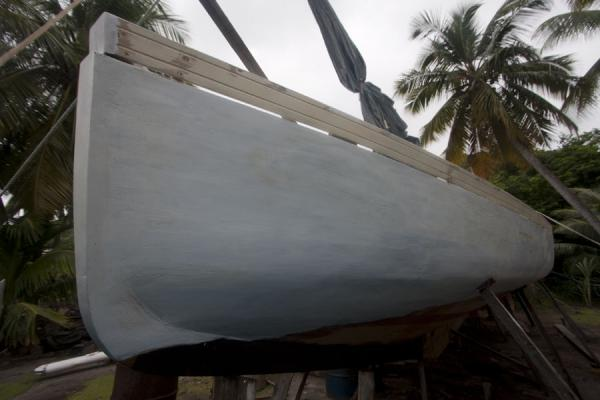 Boat being constructed in the famous boat building of Windward | Windward | Grenada