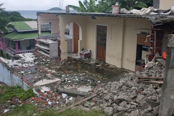 Picture of Windward (Grenada): Ruins of house destroyed by hurricane Ivan in 2004