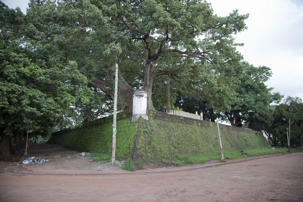 Foto di The southern part of the fortress with turretBissau - Guinea-Bissau