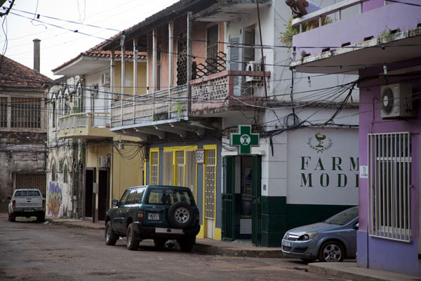 Picture of Bissau Velho (Guinea-Bissau): One of the quiet streets of Bissau Velho