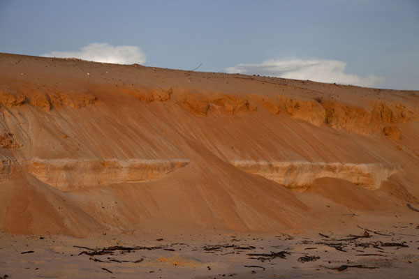 Foto di View of the red sand of the beach of VarelaVarela - Guinea-Bissau