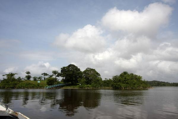 Fort Kyk over Al seen from the river | Fort Kyk over Al | Guyana