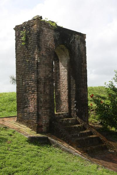 Arched gateway to Fort Kyk over Al is the only standing remains | Fort Kyk over Al | Guyana
