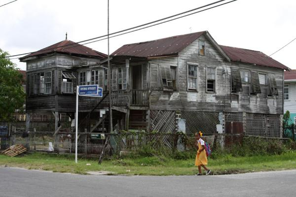 Picture of Schoolgirl at a corner in GeorgetownGeorgetown - Guyana