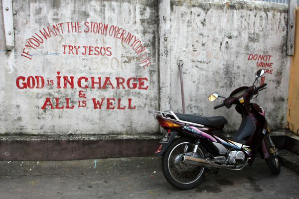 Picture of Religious slogans on a wall in GeorgetownGeorgetown - Guyana