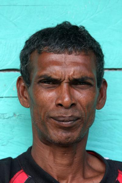 Serious face of Guyanese man | Guyanesi | Guyana