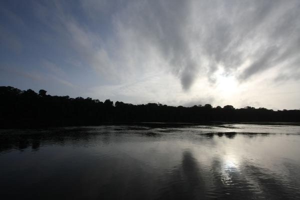 Picture of Iwokrama rainforest (Guyana): Essequibo river in the early morning