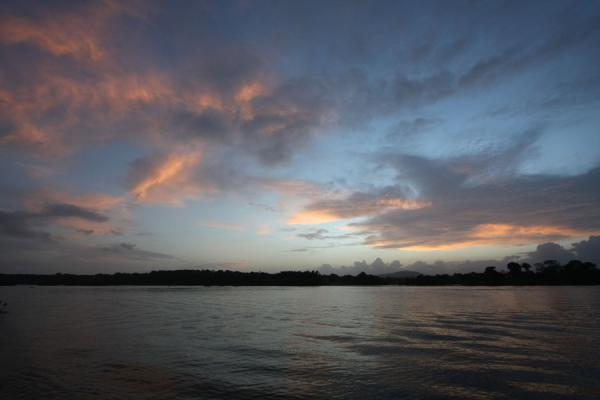 Picture of Iwokrama rainforest (Guyana): Essequibo river at sunrise