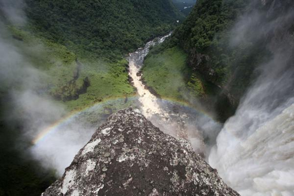 Rainbow and Potaro valley seen from the ledge next to Kaieteur Falls | Kaieteur Falls | Guyana