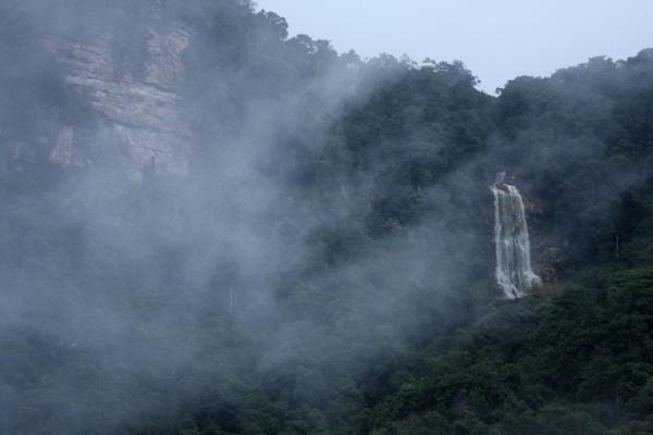 Picture of Waterfall in the Potaro canyon in the early evening fog