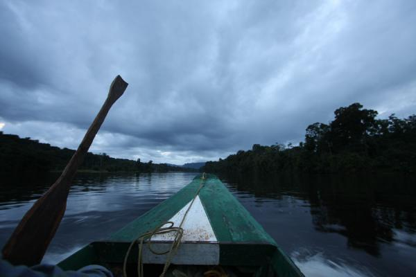 Boating on the Potaro river in the early evening | Kaieteur overland | Guyana