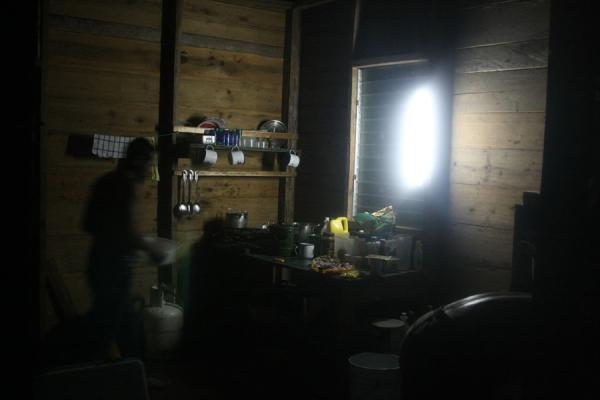 Picture of Getting dinner ready in a cabin at Amatuk Falls