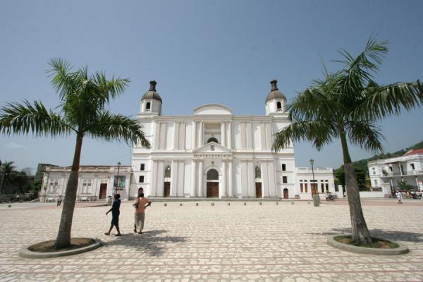 Picture of Cap-Haïtien cathedral (Haiti): Cathedral of Cap-Haïtien seen from the Cathedral Square