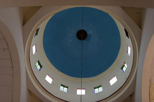 Picture of Cap-Haïtien cathedral (Haiti): Blue and white cupola of the cathedral of Cap-Haïtien