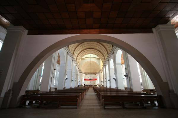 Picture of Cap-Haïtien cathedral (Haiti): View of the interior of the Cap-Haïtien cathedral from the main entrance