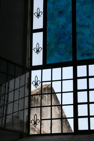 Picture of Cap-Haïtien cathedral (Haiti): Looking outside through a window of the Cap-Haïtien cathedral