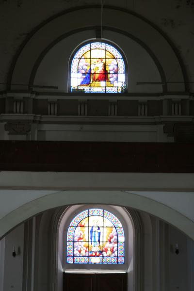 Picture of Cap-Haïtien cathedral (Haiti): Cap-Haïtien cathedral: stained glass windows