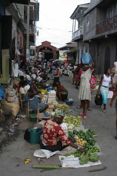 Picture of Cap Haïtien street sellers (Haiti): Fruit seller near the market of Cap Haïtien