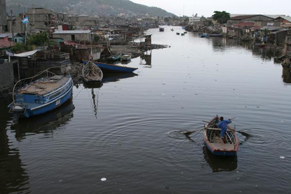 Picture of Cap-Haïtien (Haiti): Boat in a river of Cap-Haïtien