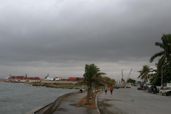 Picture of Cap-Haïtien (Haiti): Stormy weather coming over the boulevard of Cap-Haïtien