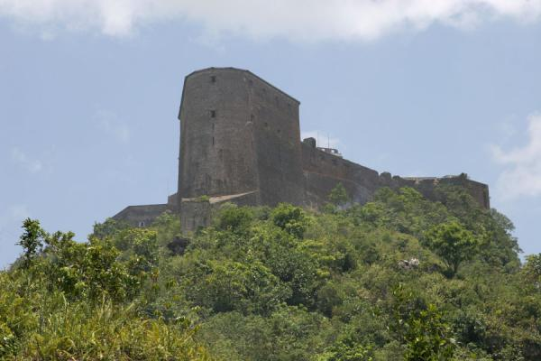 Picture of Citadelle La Ferrière (Haiti): Citadelle la Ferrière dominating the hill