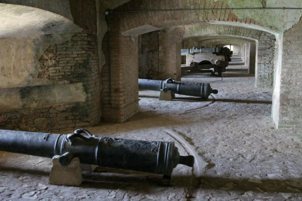 Picture of Ready for action but never used: cannons in the Citadelle la Ferrière - Haiti - Americas