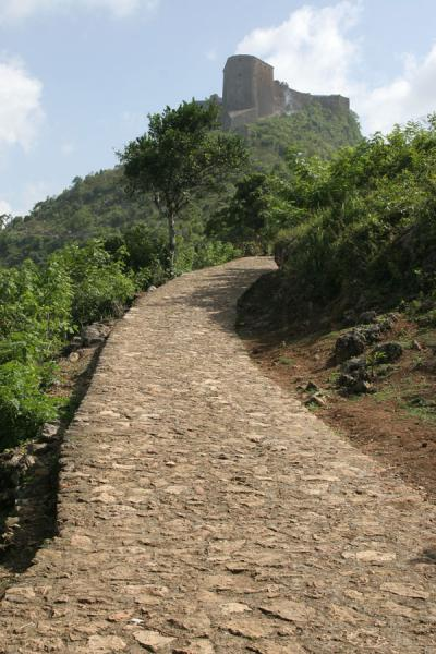 Picture of Almost there: path leading up to the Citadelle la FerrièreCitadelle La Ferrière - Haiti