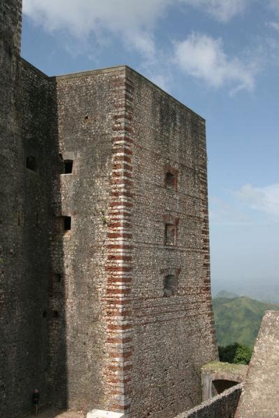 Picture of Citadelle La Ferrière (Haiti): Walls of the Citadelle la Ferrière are massive as shown here