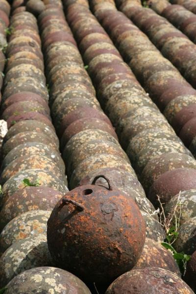 Picture of Rusty cannonballs are abundant in the Citadelle la FerrièreCitadelle La Ferrière - Haiti