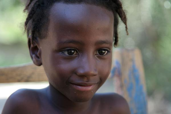 Picture of Haitian people (Haiti): Young Haitian boy posing for the camera