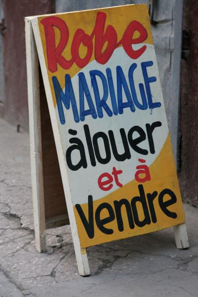 Picture of Haitian signs (Haiti): Rent or buy a wedding in Cap Haïtien