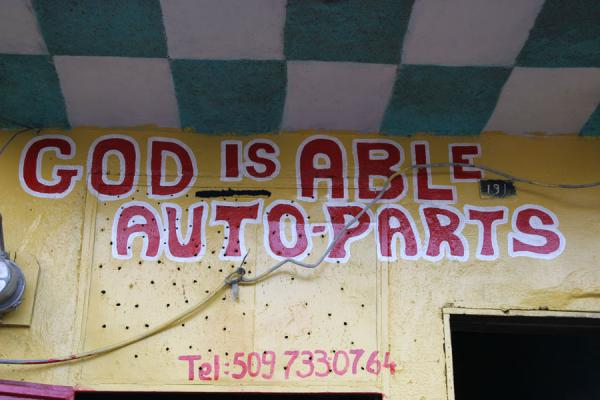 God is able Auto Parts in Cap Haïtien | Haitian signs | Haiti