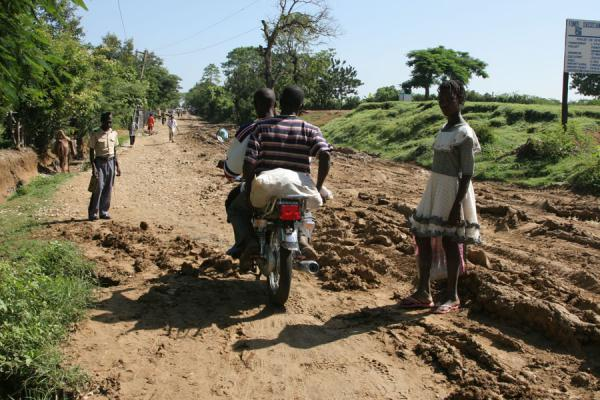 Picture of Hinche (Haiti): Muddy road outside Hinche after torrential rains