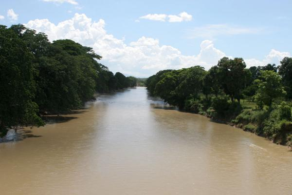 View of a river from the main bridge at Hinche | Hinche | Haiti