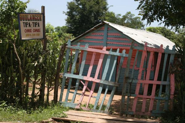 Picture of Hinche (Haiti): Colourful bakery outside Hinche