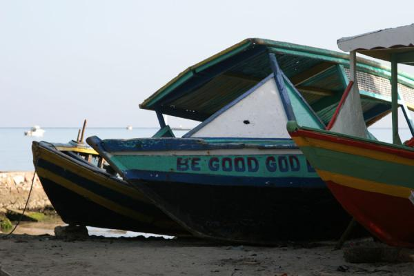 Foto van Boats in Labadie are colourful and well maintained - Haïti - Amerika