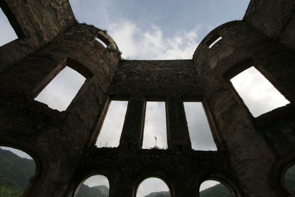 Looking outside from Sans-Souci Palace | Palace Sans-Souci | Haiti