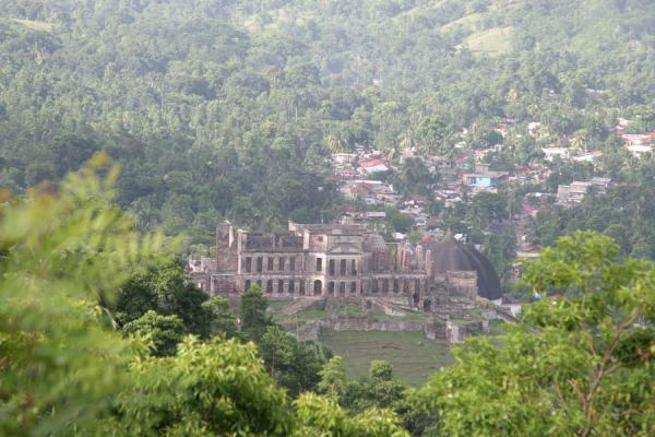 Picture of Palace Sans-Souci (Haiti): View of Palace Sans-Souci with Milot in the background