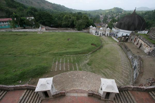 Picture of Palace Sans-Souci (Haiti): View towards Milot from Palace Sans-Souci