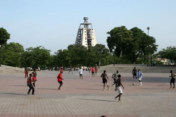Playing football at Champs de Mars | Port-au-Prince | Haiti